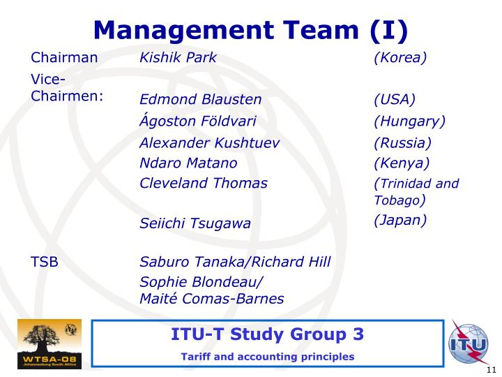 Management Team (I)