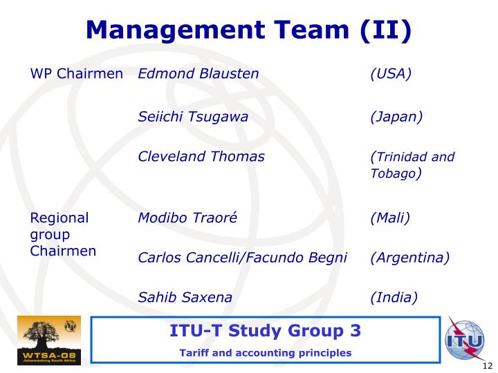 Management Team (II)
