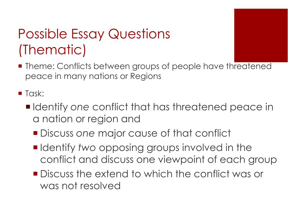 global regents thematic essay on reform homework discuss the extend to which the conflict was or was not resolved
