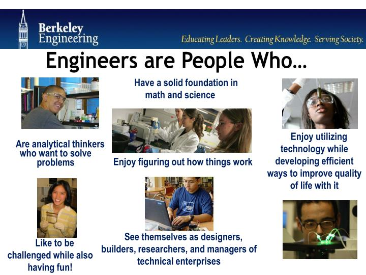 Engineers are People Who…