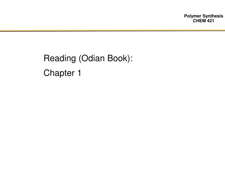 Reading (Odian Book):