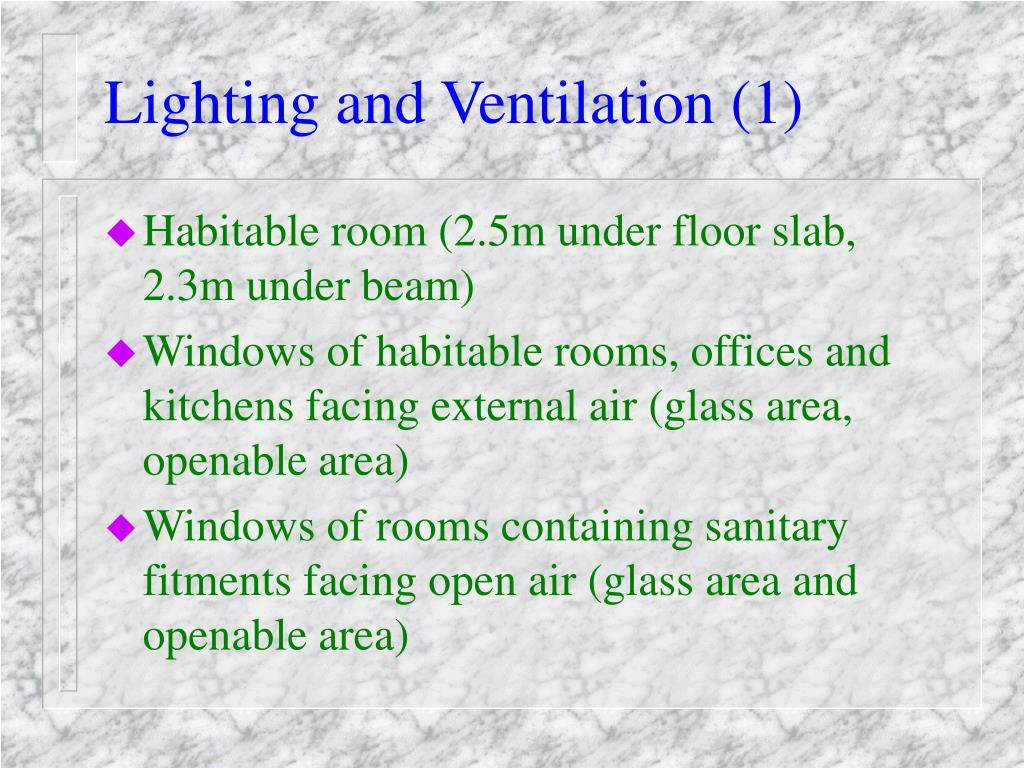 Lighting and Ventilation (1)