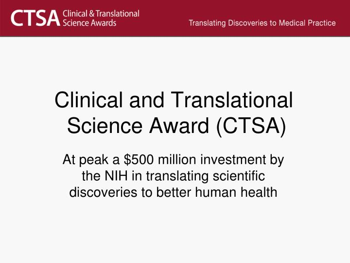 Clinical and Translational