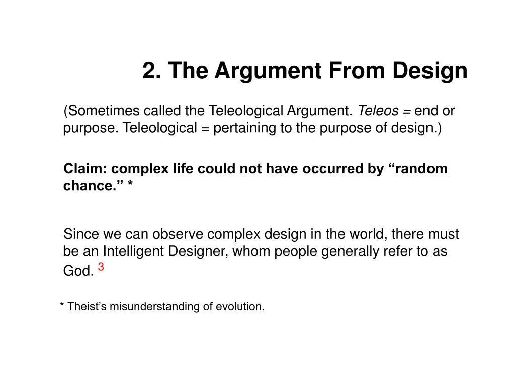 2. The Argument From Design