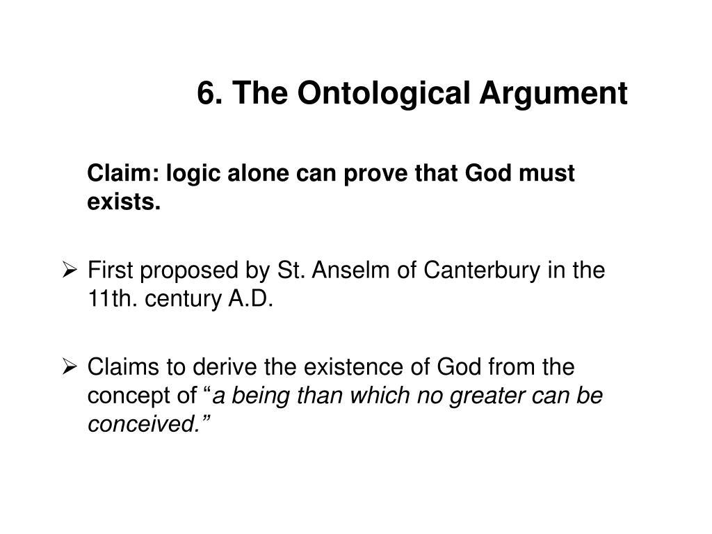 6. The Ontological Argument