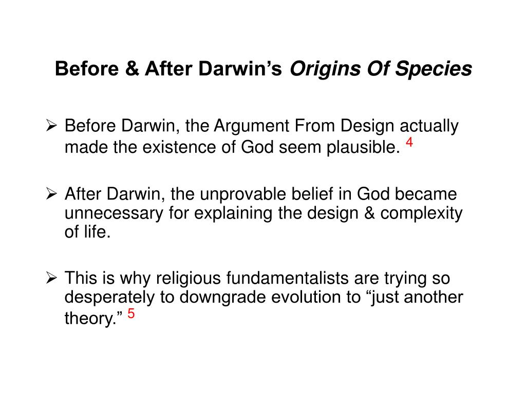 Before & After Darwin's