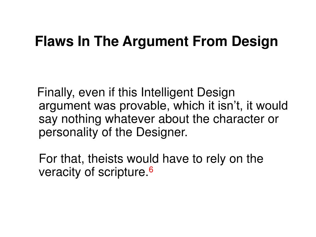 Flaws In The Argument From Design