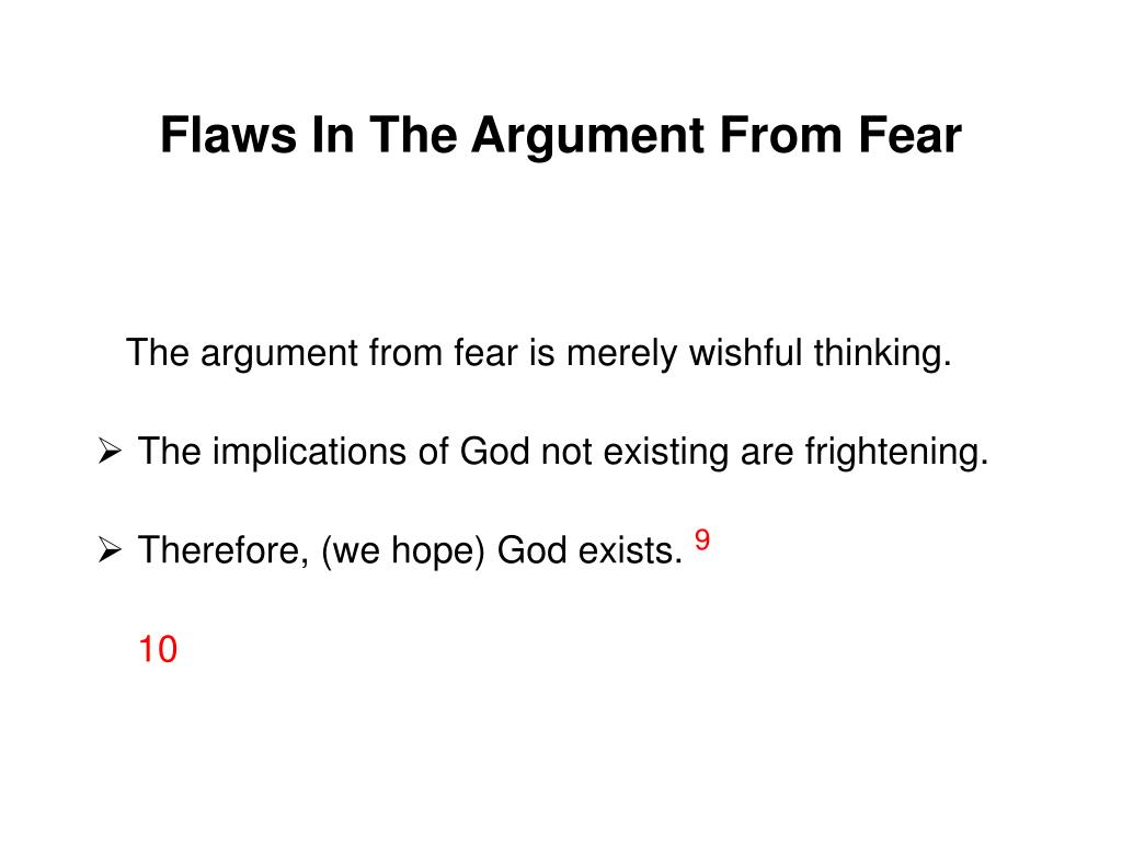 Flaws In The Argument From Fear