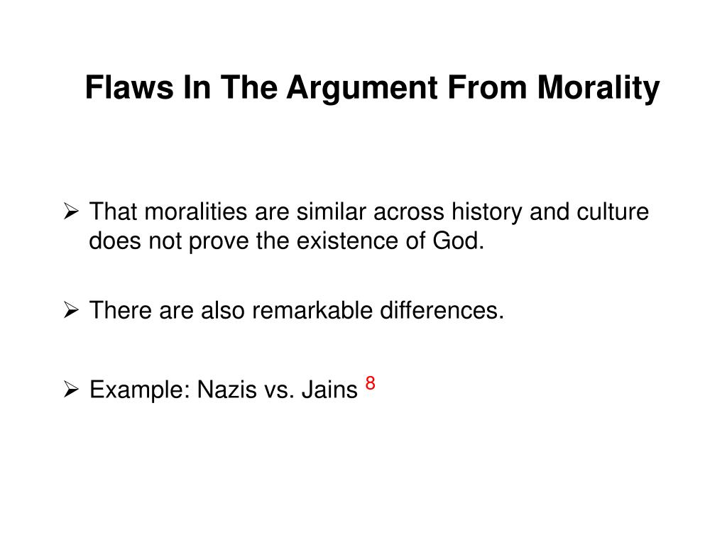 Flaws In The Argument From Morality