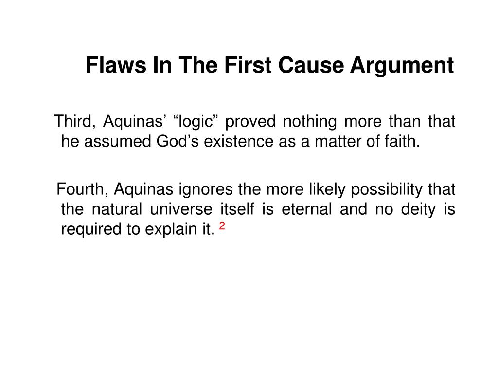 Flaws In The First Cause Argument