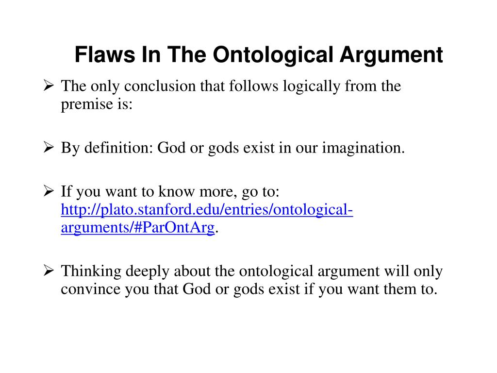 Flaws In The Ontological Argument
