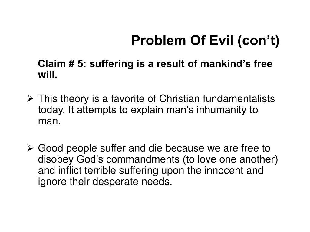 Problem Of Evil (con't)