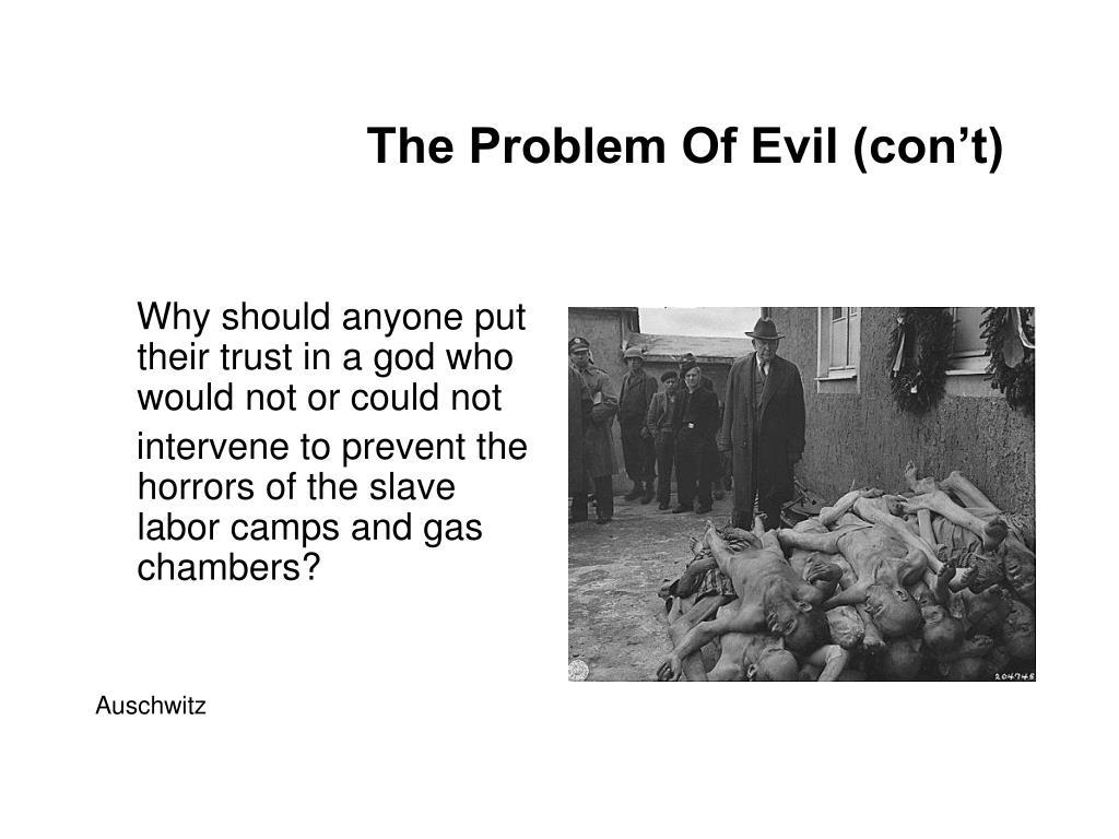 The Problem Of Evil (con't)