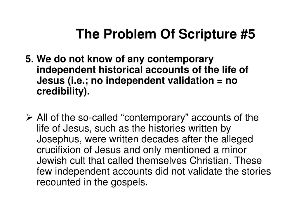 The Problem Of Scripture #5