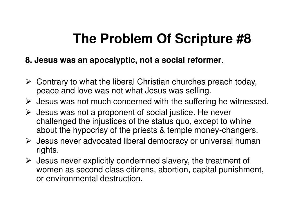 The Problem Of Scripture #8