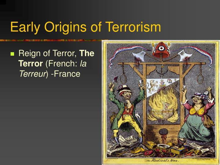 Early origins of terrorism