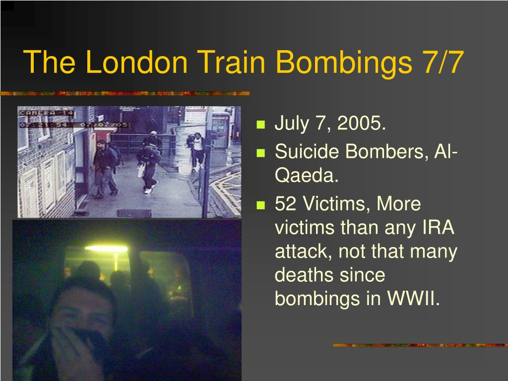 The London Train Bombings 7/7