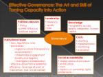 effective governance the art and skill of turning capacity into action