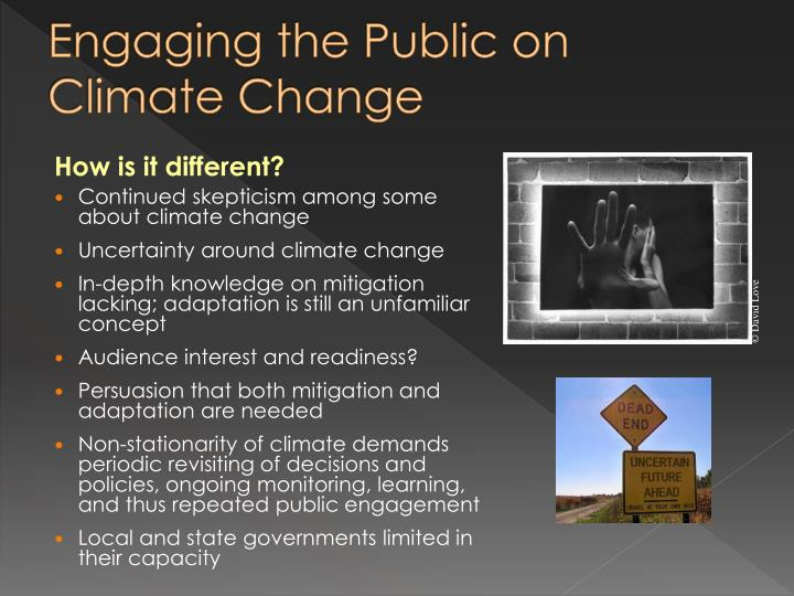 Engaging the Public on Climate Change