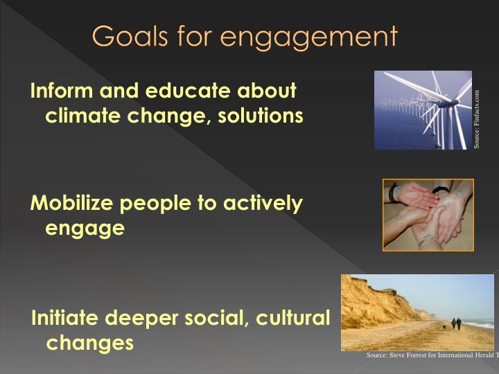 Goals for engagement