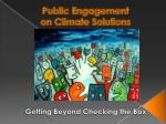 public engagement on climate solutions