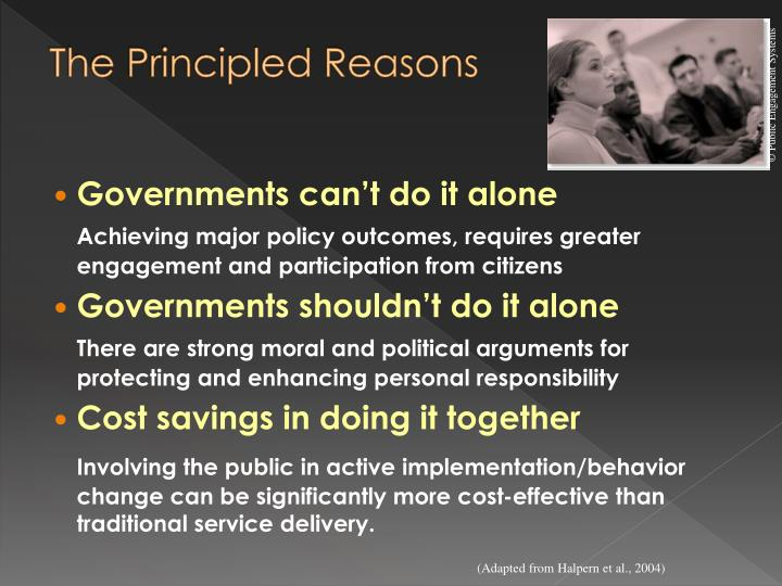 The Principled Reasons