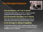 the principled reasons