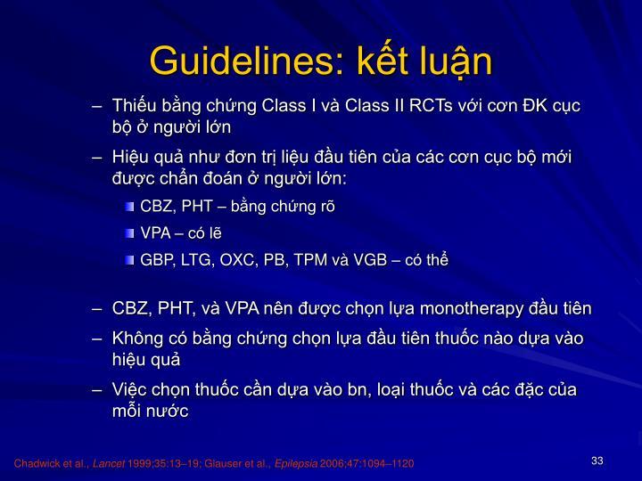 Guidelines: kết luận