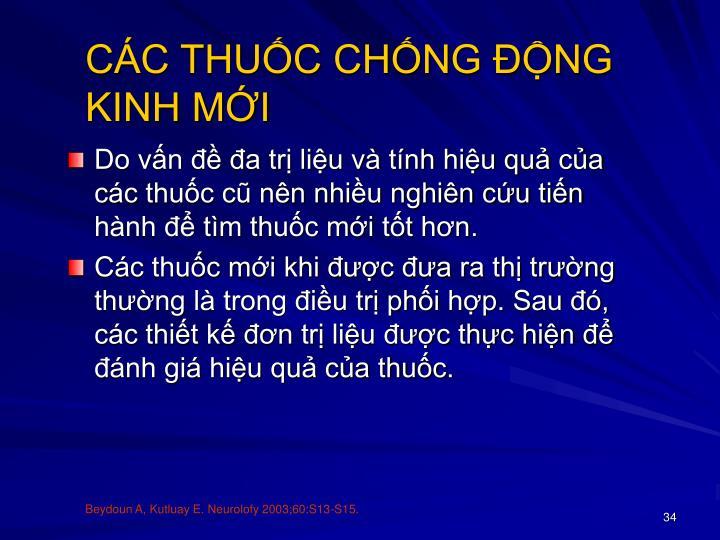 CÁC THUỐC CHỐNG ĐỘNG KINH MỚI