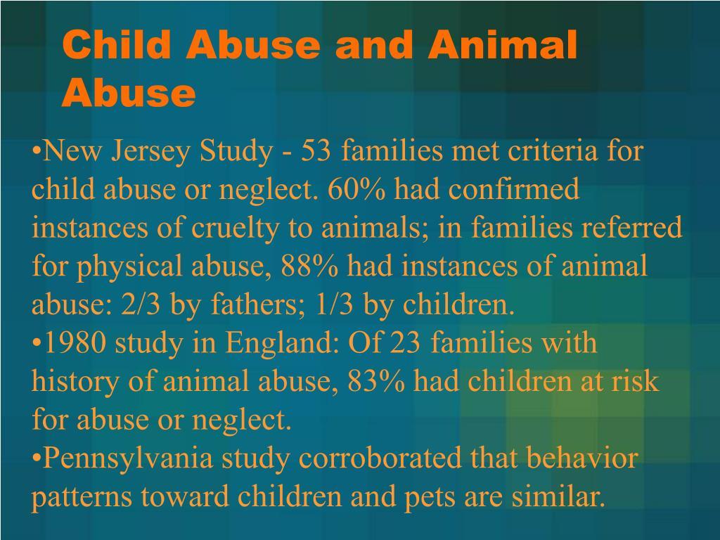 Child Abuse and Animal Abuse