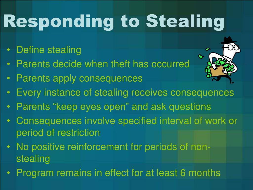 Responding to Stealing