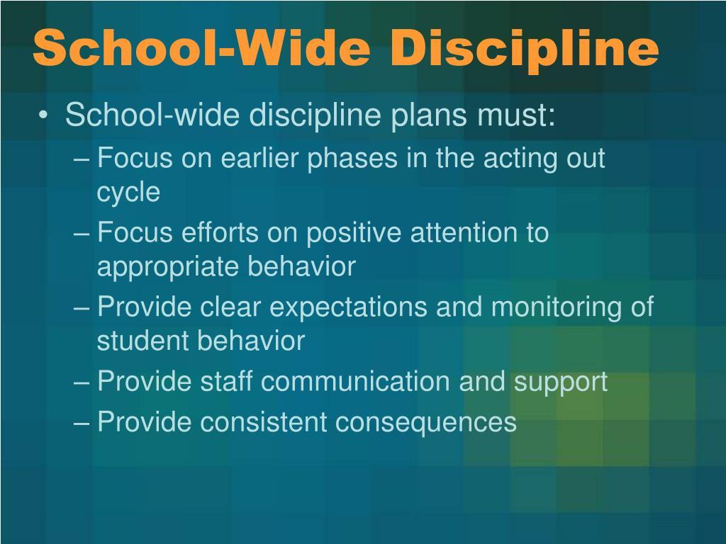 School-Wide Discipline