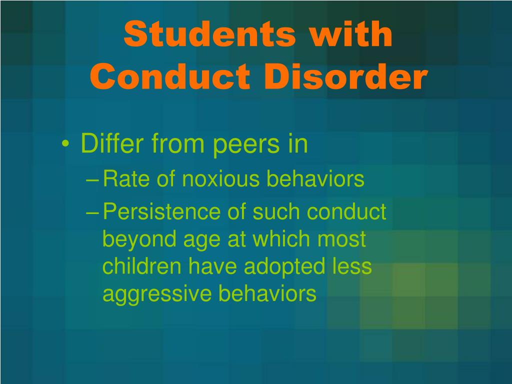 Students with Conduct Disorder