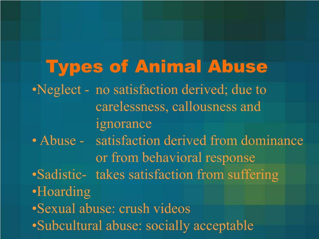 Types of Animal Abuse