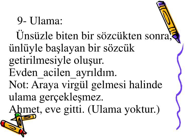 9- Ulama: