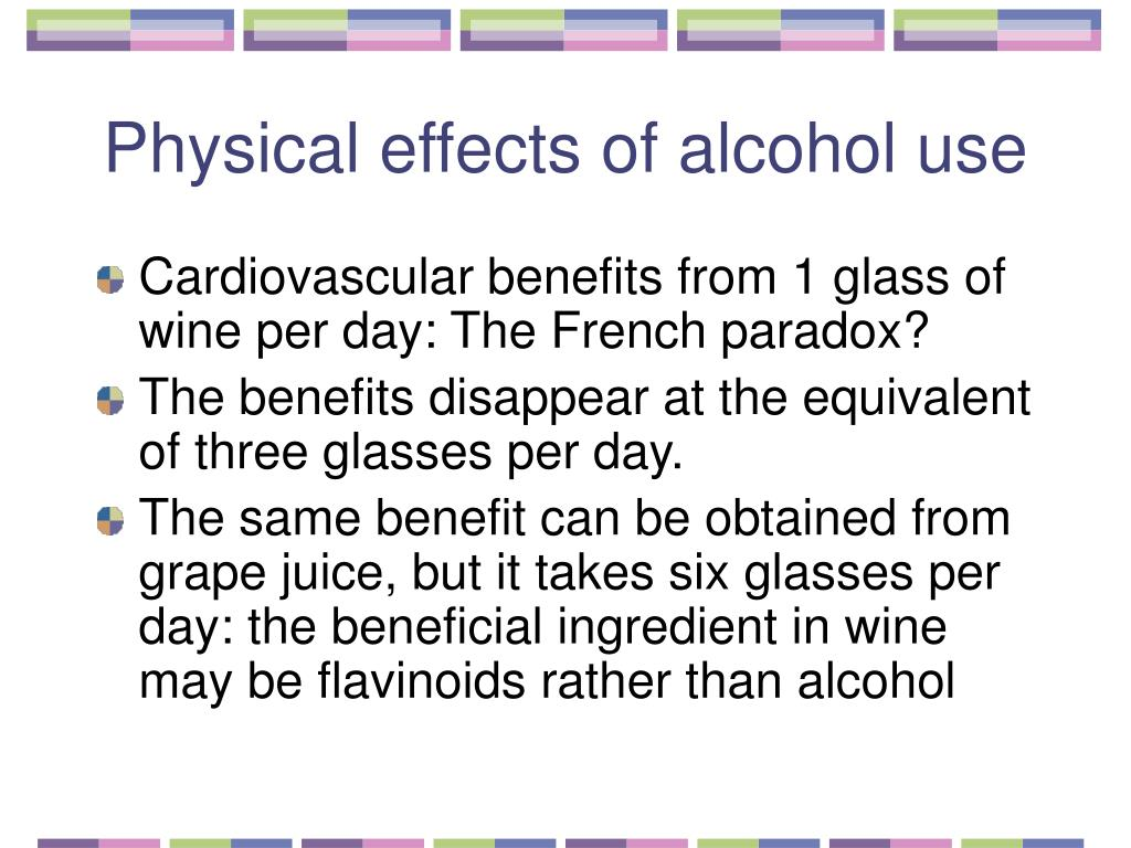 Physical effects of alcohol use