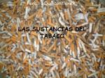 las sustancias del tabaco