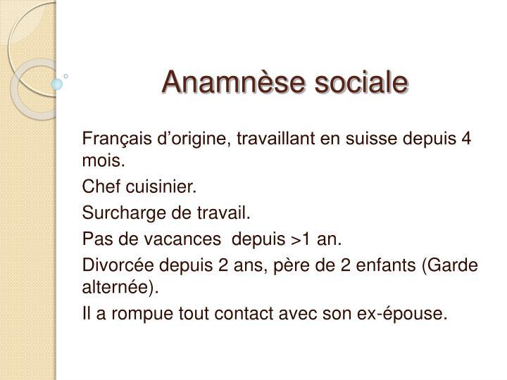 Anamnèse sociale