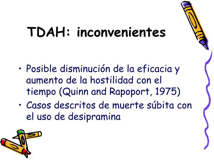 TDAH: inconvenientes