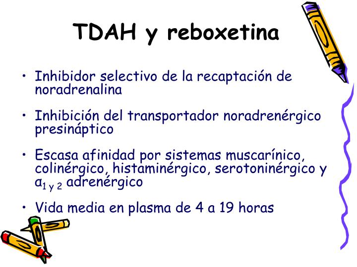 TDAH y reboxetina