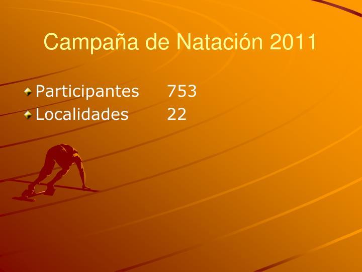 Campaña de Natación 2011