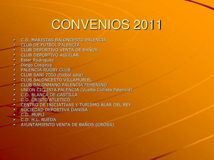 CONVENIOS 2011
