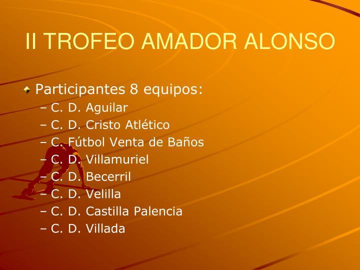 II TROFEO AMADOR ALONSO