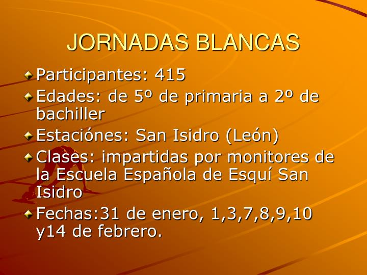 JORNADAS BLANCAS