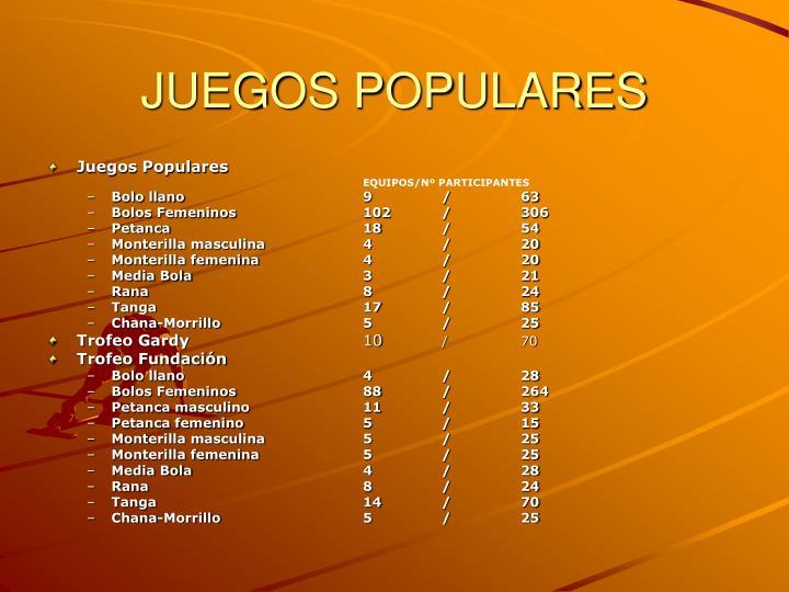 JUEGOS POPULARES