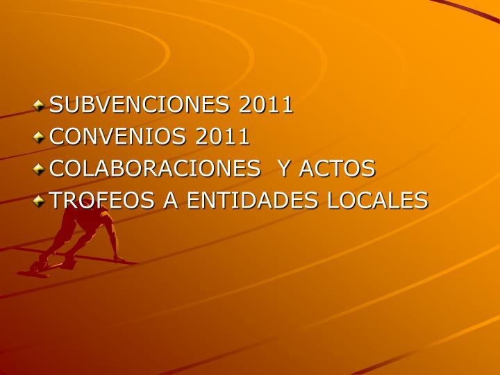 SUBVENCIONES 2011