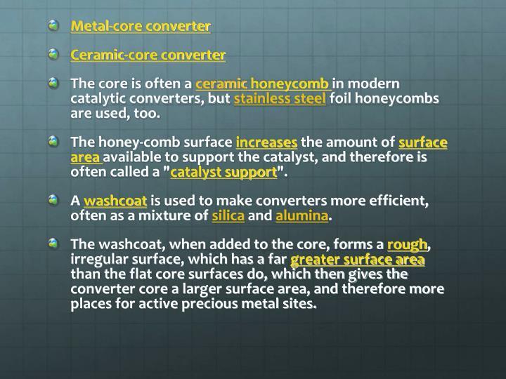 Metal-core converter