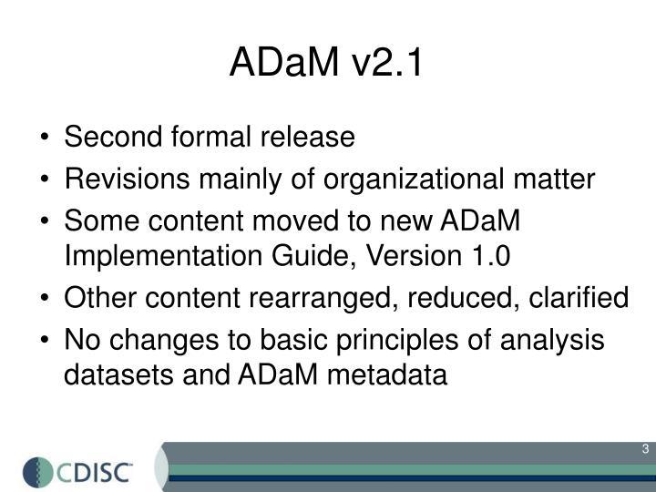 ADaM v2.1
