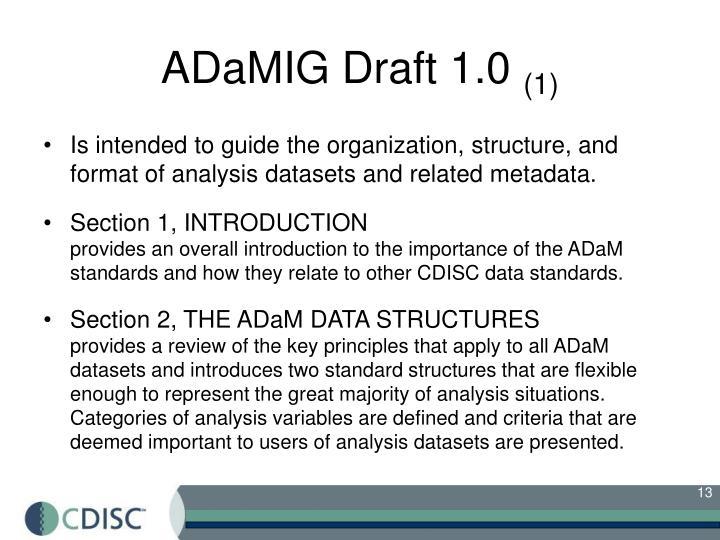 ADaMIG Draft 1.0