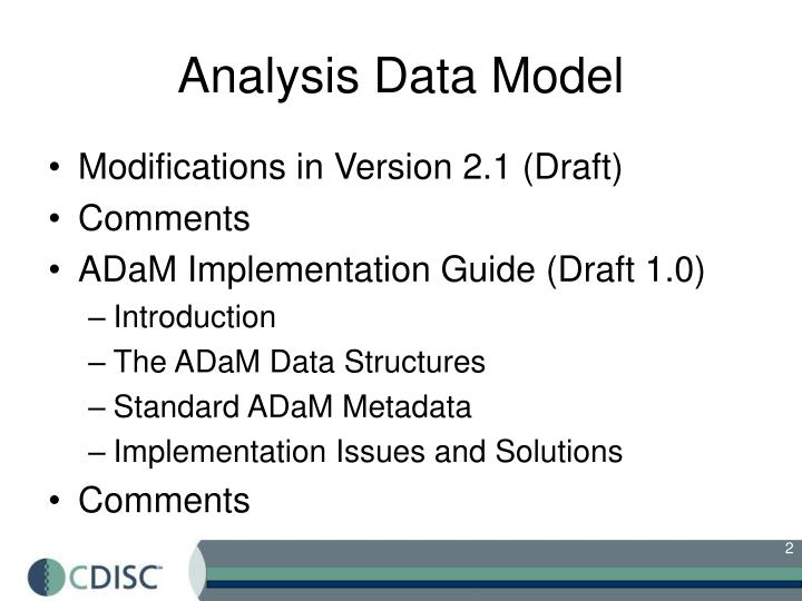 Analysis data model
